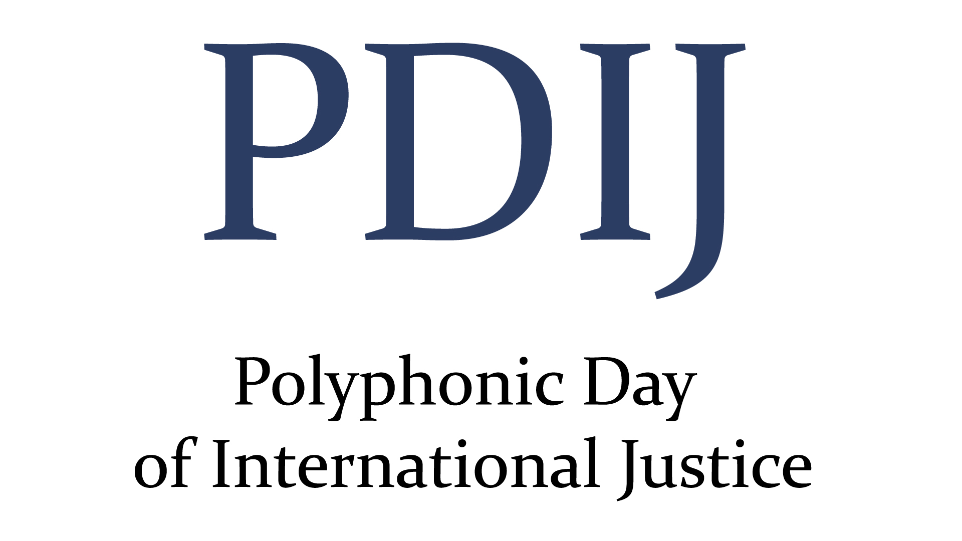 Logo Polyphonic Day of International Justice Segundo